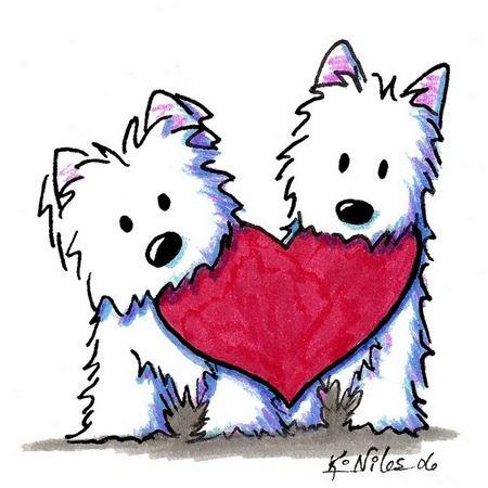 450x450 Valentine's Day Westie Kiniart Westies, Dog