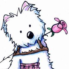 236x236 Westie Drawings Free Westie Terrier Drawings Showing By Kim