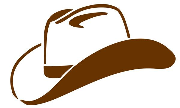600x361 Cowboy Hat Clipart Black And White Clipart Panda