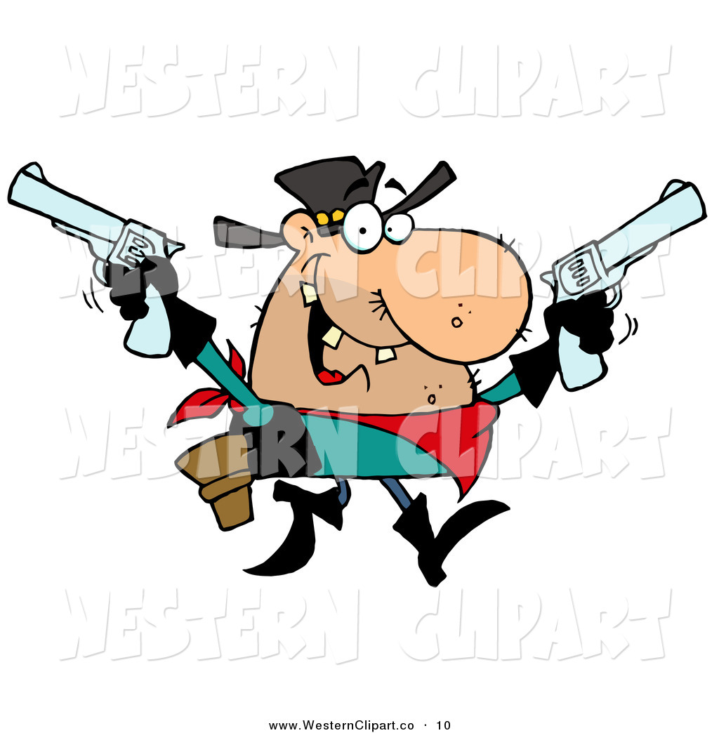 1024x1044 Vector Western Clip Art Of A Wild West Outlaw Cowboy Holding Up