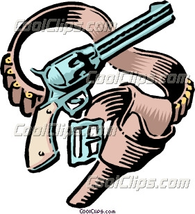 281x308 Clip Art Old West Revolvers Clipart