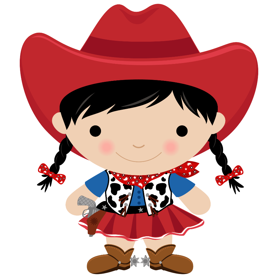 900x900 Little Cowgirl Clipart
