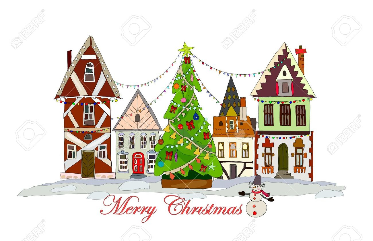 1300x842 Collection Of Christmas Town Clipart High Quality, Free