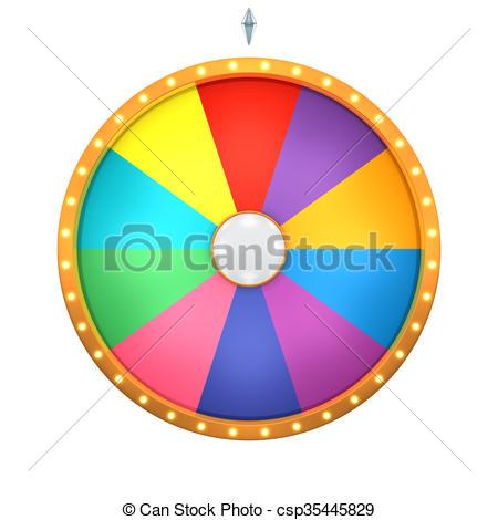 450x470 Lucky Spin 10 Area Color. Lucky Spin Represent The Wheel