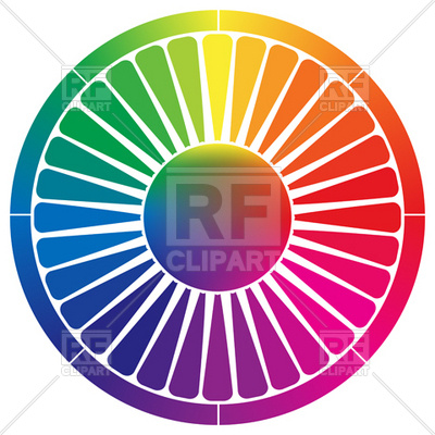 400x400 Abstract Color Palette Wheel Royalty Free Vector Clip Art Image