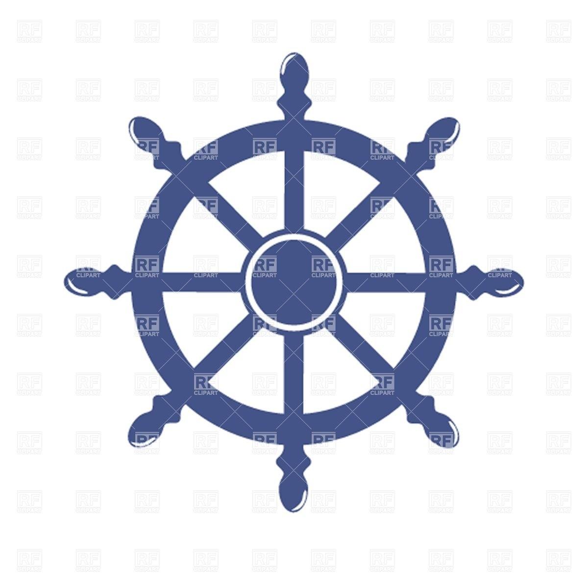 1200x1200 Ship Steering Wheel Royalty Free Vector Clip Art Image 21118