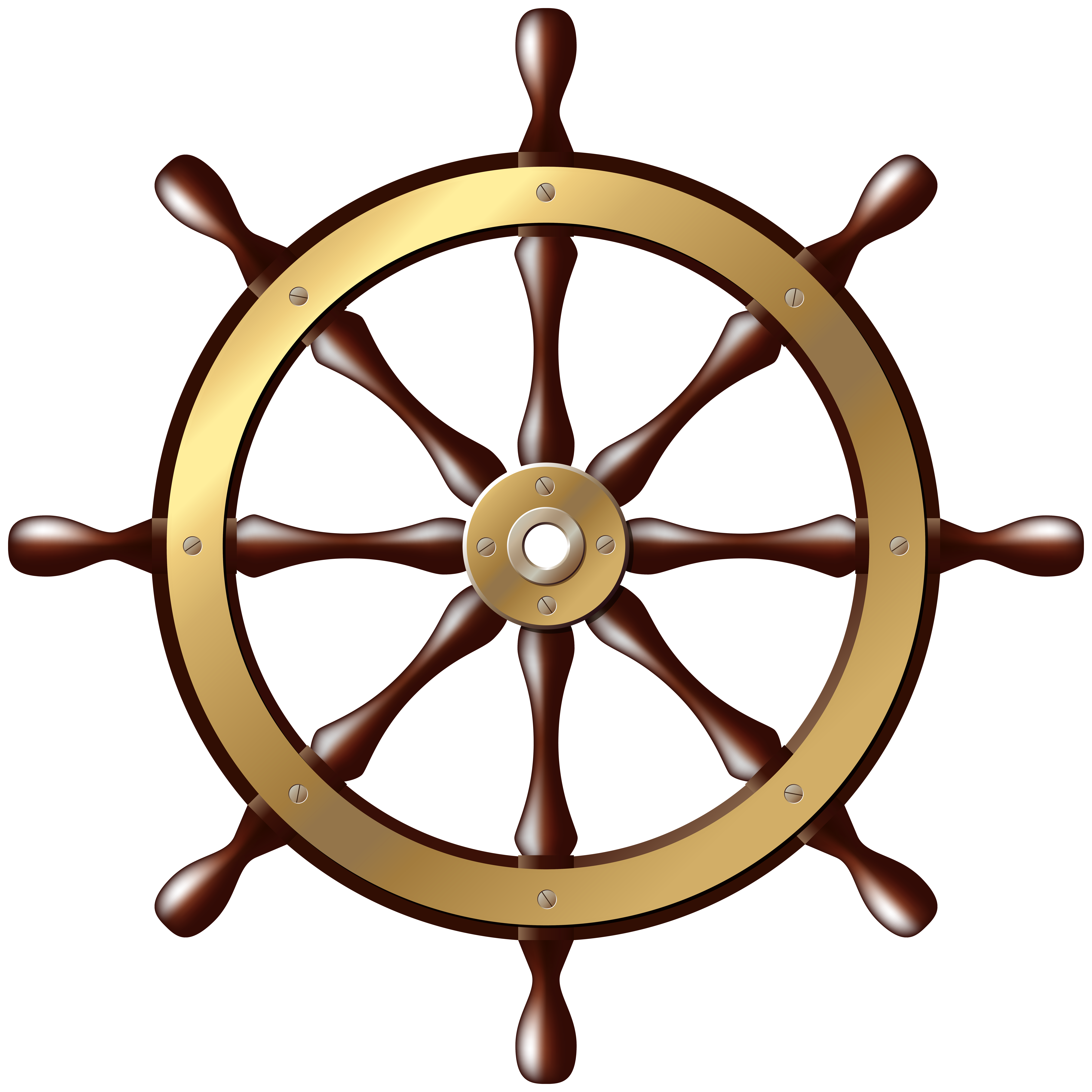 8000x8000 Ship Wheel Png Clip Art