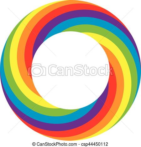 450x470 Vector Rainbow Round Wheel Circle. Vector Colorful Round Vector