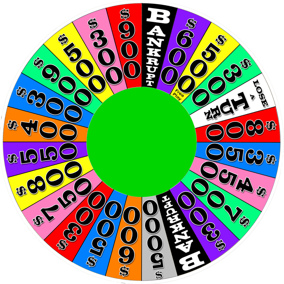 1090x1090 Wheel Of Fortune Clipart
