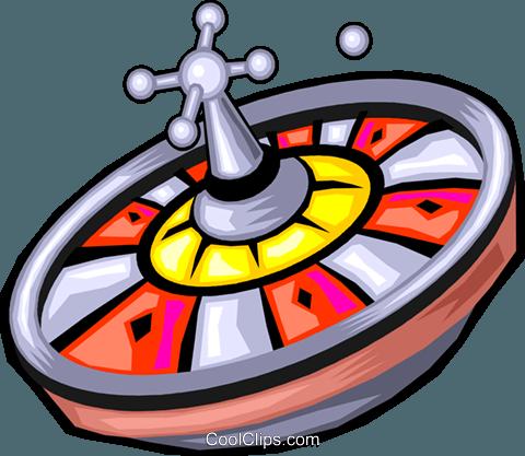 480x417 Roulette Wheel Royalty Free Vector Clip Art Illustration Vc029908