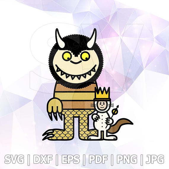 570x570 Where The Wild Things Are Svg Clipart Party Supply Layererd Cut
