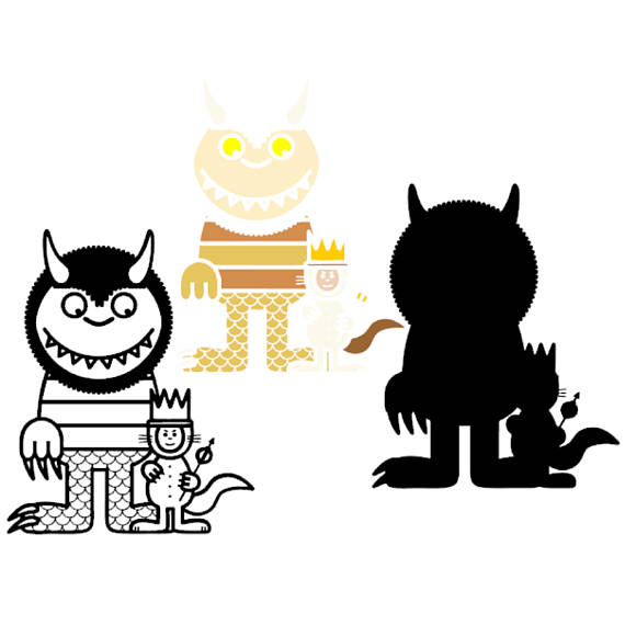 570x570 Where The Wild Things Are Svg Clipart Party Supply Layererd