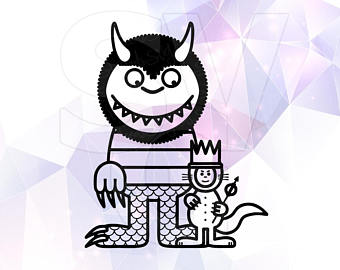 340x270 Where The Wild Things Are Svg Dxf Clip Art Monster Party