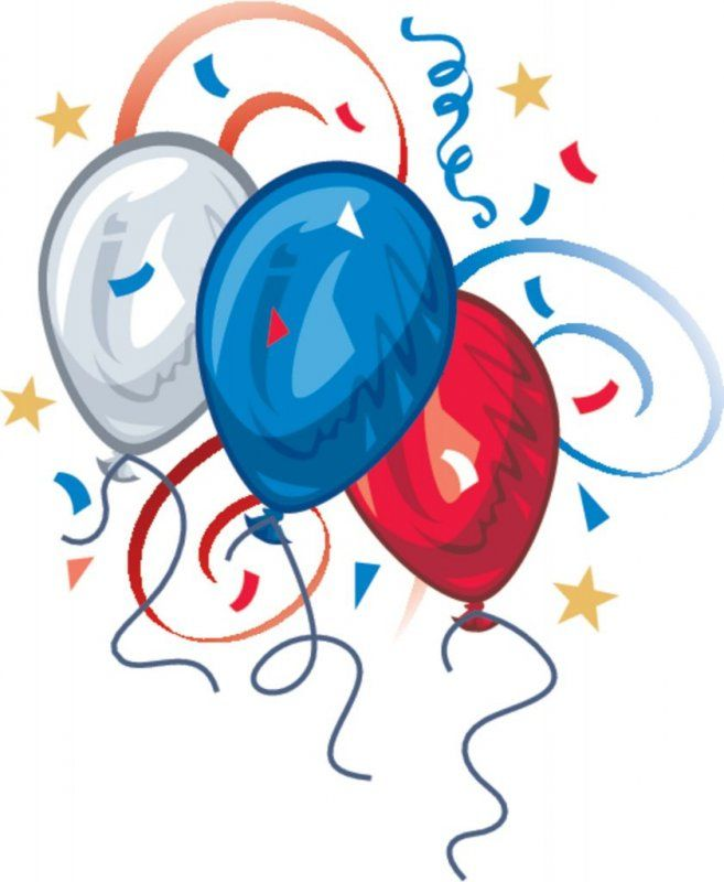 657x800 Red White And Blue Balloon Clipart