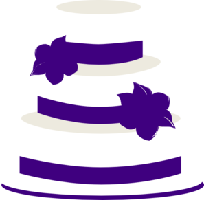 297x291 White And Purple Wedding Cake Clip Art
