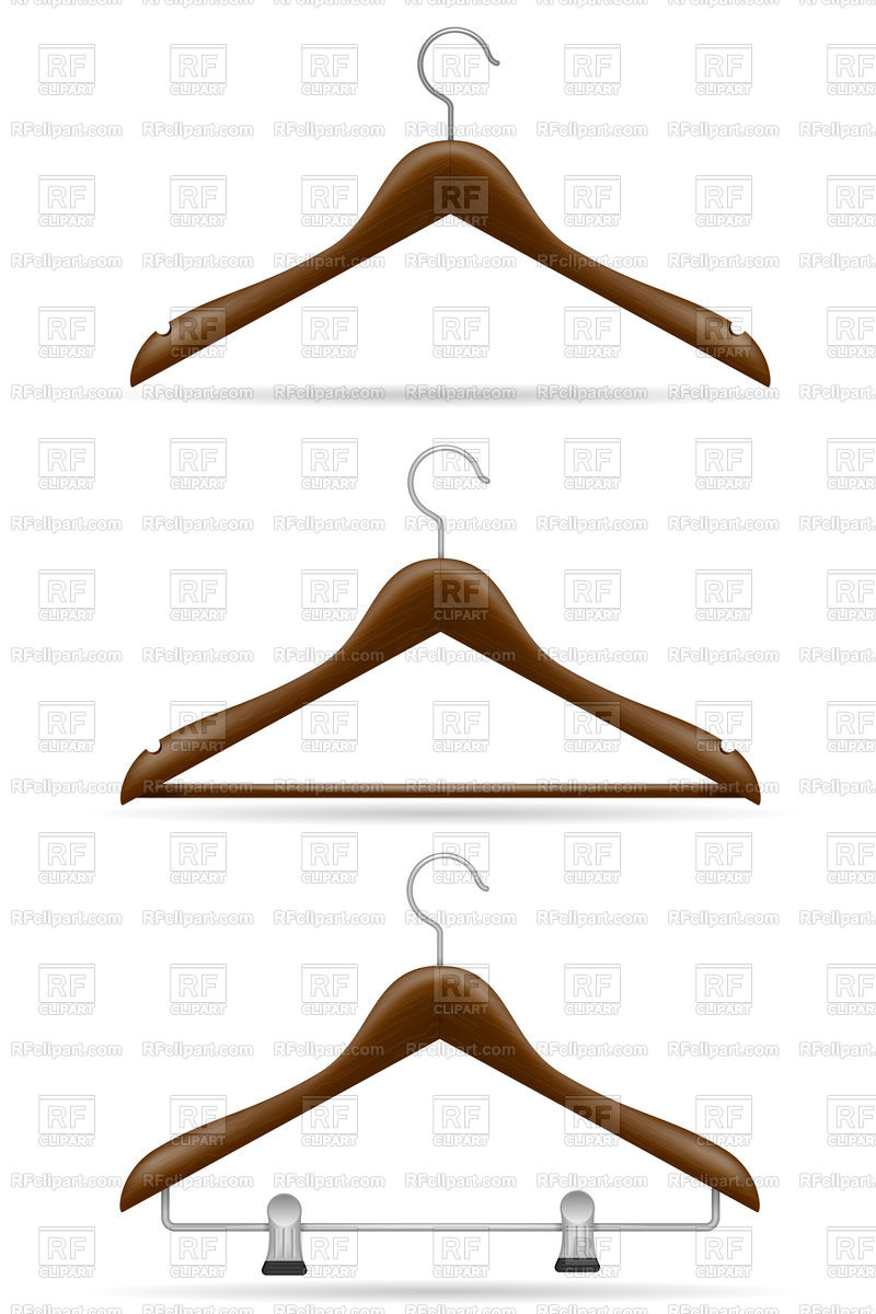 800x1200 Wooden Clothes Hanger Isolated On White Background Royalty Free