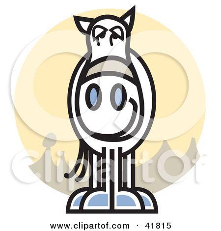450x470 Klipart Ilustrace White Horse Kruh Od