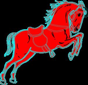 300x291 Red Horse White Clip Art