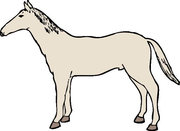 600x436 White Horse Clip Art Clipart Panda