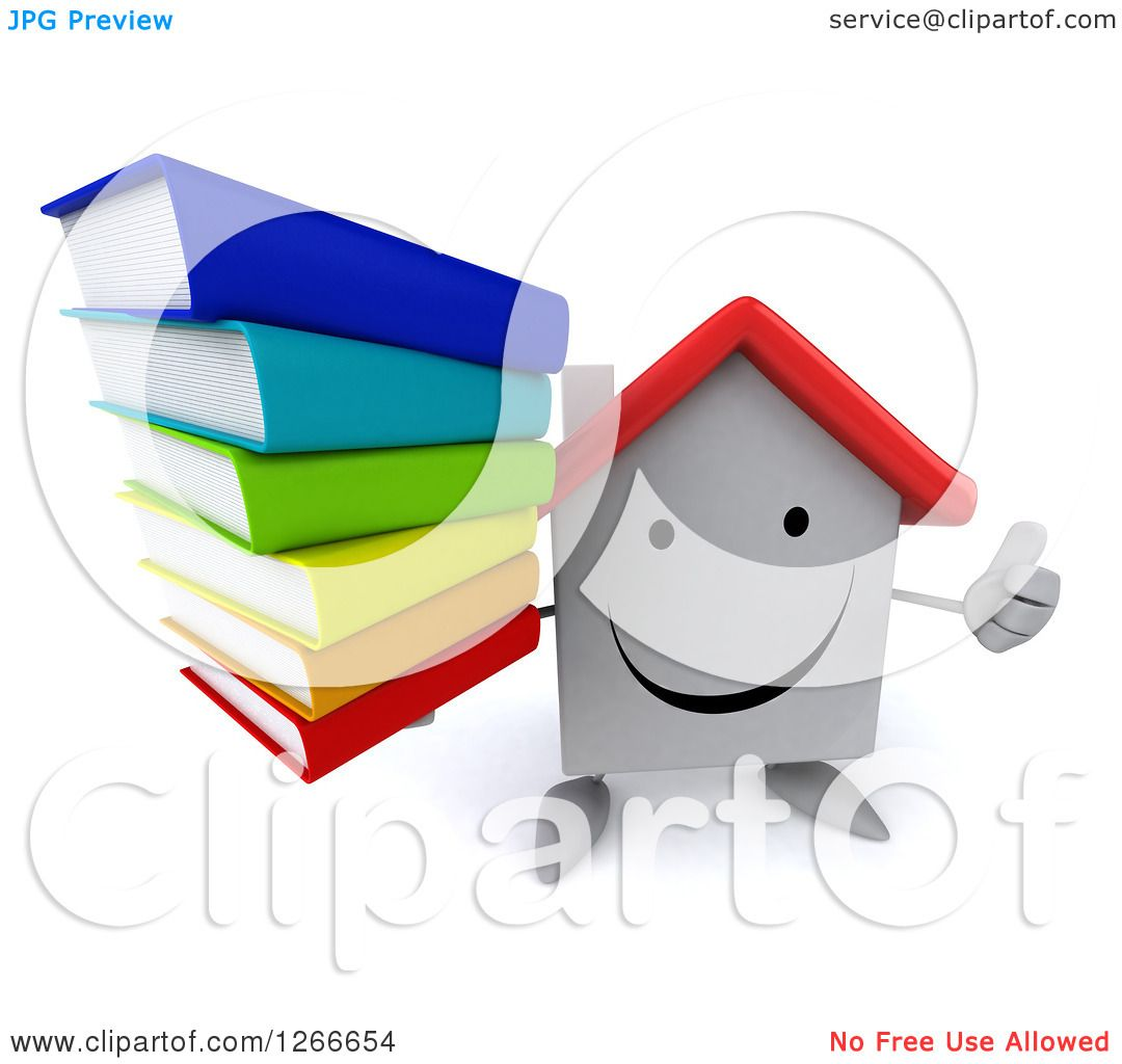 1080x1024 Clipart A 3d Happy White House Character Holding A Stack