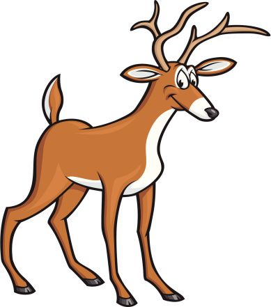 389x441 New Cartoon Deer Clipart White
