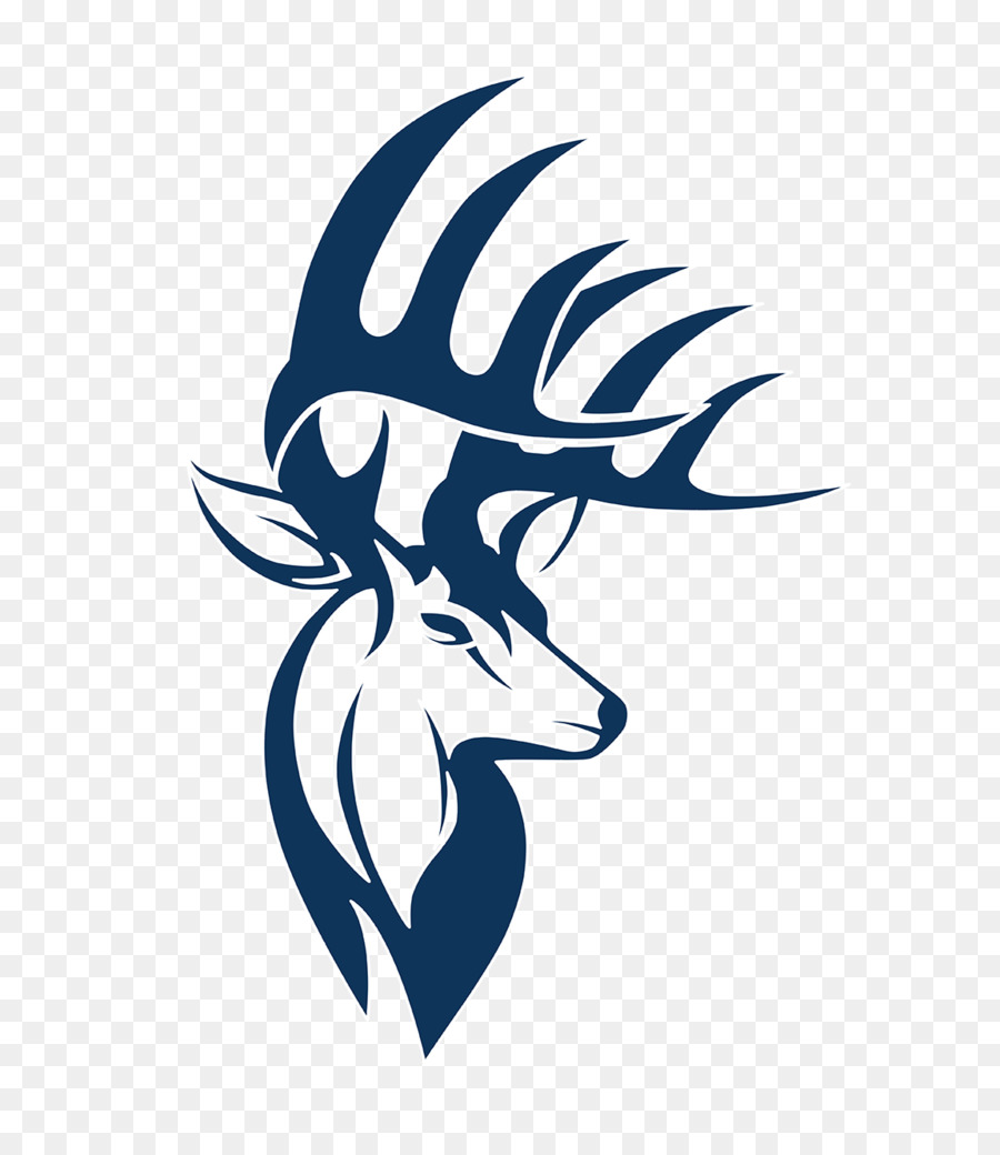 900x1040 Decal White Tailed Deer Logo Clip Art