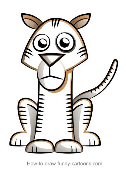 415x564 Drawn White Tiger Simple