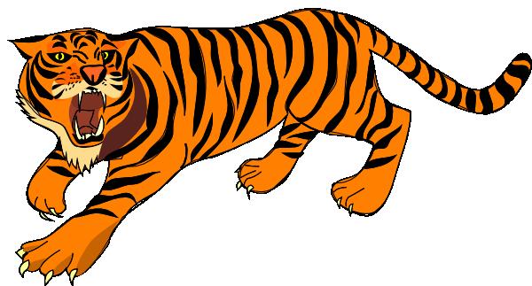 600x323 Tiger Clipart Free