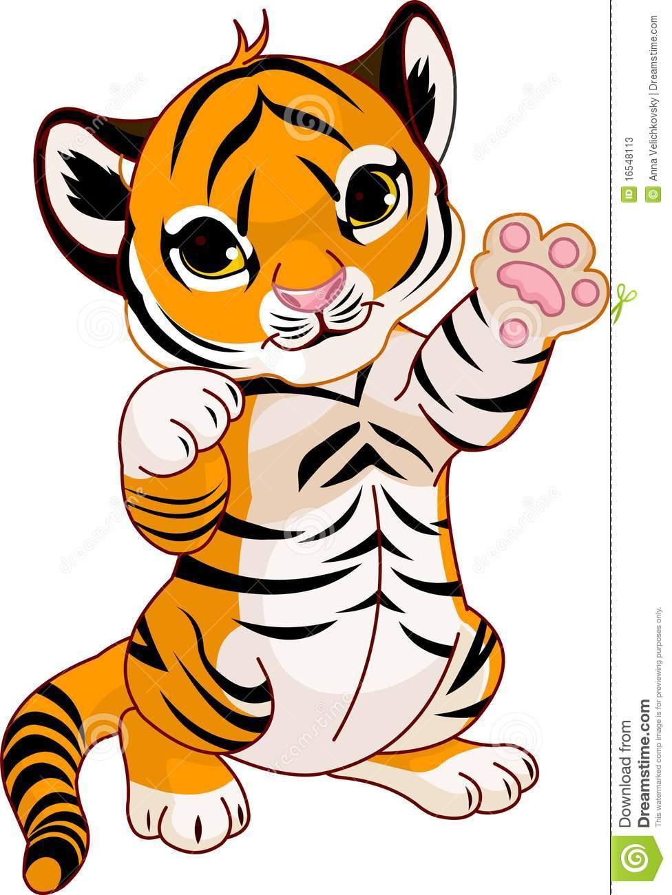 976x1300 Tiger Cub Clipart