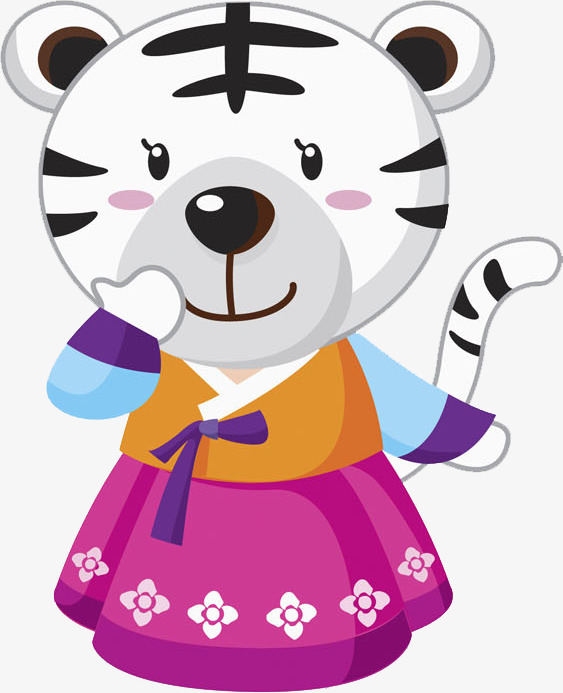 563x693 White Tiger, Hand, Hanbok Png Image And Clipart For Free Download
