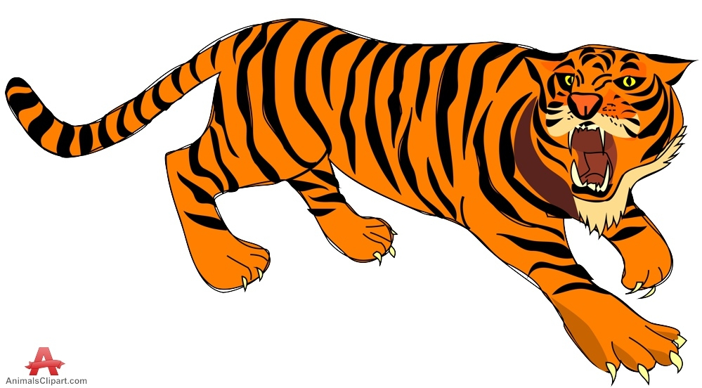 999x552 Running Tiger Clipart Running Tiger Clipart Black And White Tiger