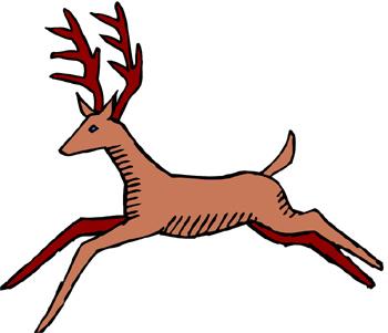 350x301 Running Deer Clipart Amp Running Deer Clip Art Images