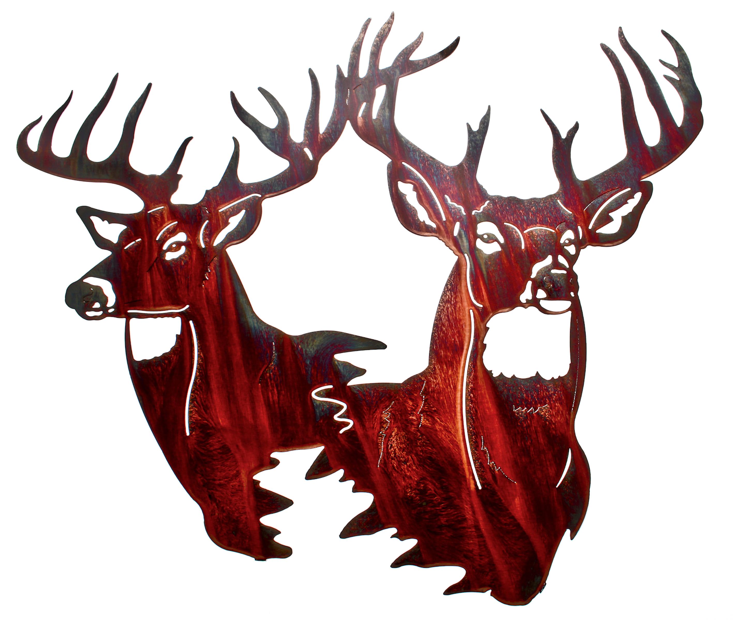 2834x2400 Deer Wall Art, Deer Wall Hangings, Metal Wall Sculptures