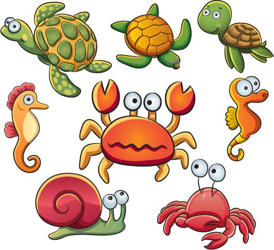 538x491 Ocean Animals Clipart
