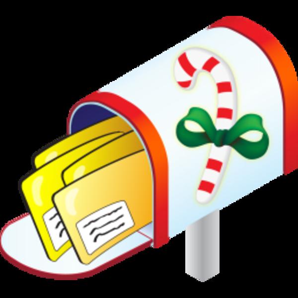 600x600 Santa Clipart Mail