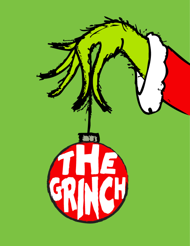 612x792 The Grinch Free Art Printable For Christmas Grinch, Holidays