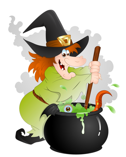 482x600 Halloween Witch With Cauldron Png Clipart Halloween