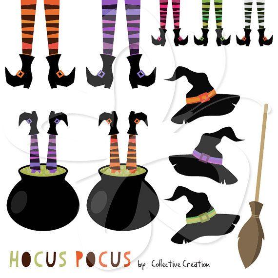 570x570 Hocus Pocus Clip Art Clipart Set Witch Legs By Collectivecreation
