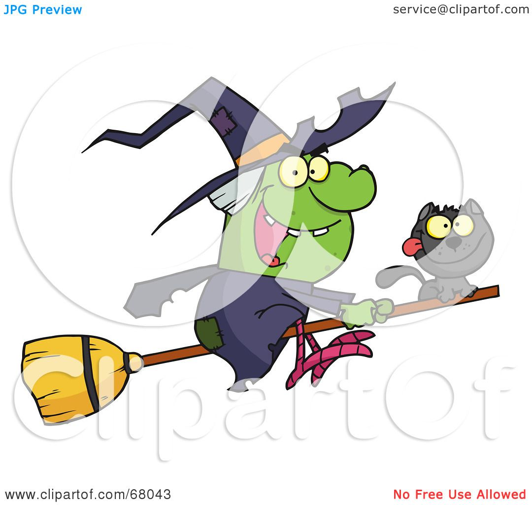 1080x1024 Royalty Free (Rf) Clipart Illustration Of A Wicked Halloween Witch