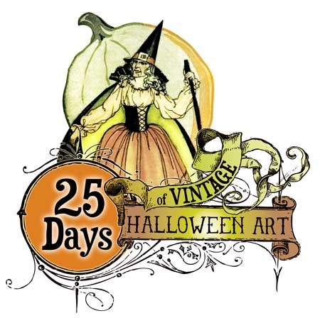 450x448 Vintage Girl Witch Clipart