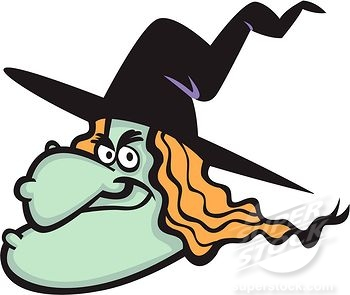350x295 Wicked Witch Face Clipart