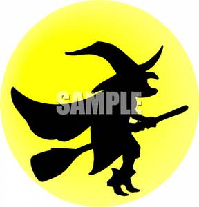 288x300 Witch Clipart Yellow