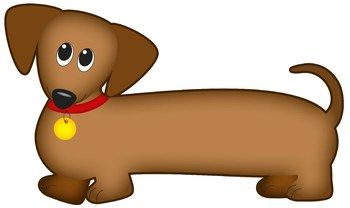 350x208 Dog Clip Art Dachshund Dog (Wiener Dog Sausage Dog) Wiener