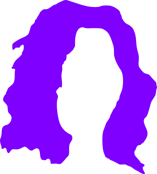 540x598 Purple Wig Clip Art