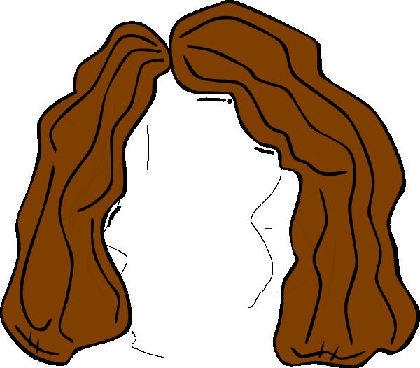 600x526 Brown Wig Clip Art