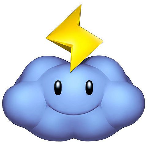 480x480 Thunder Cloud Mario Kart, Wii And Mario Bros