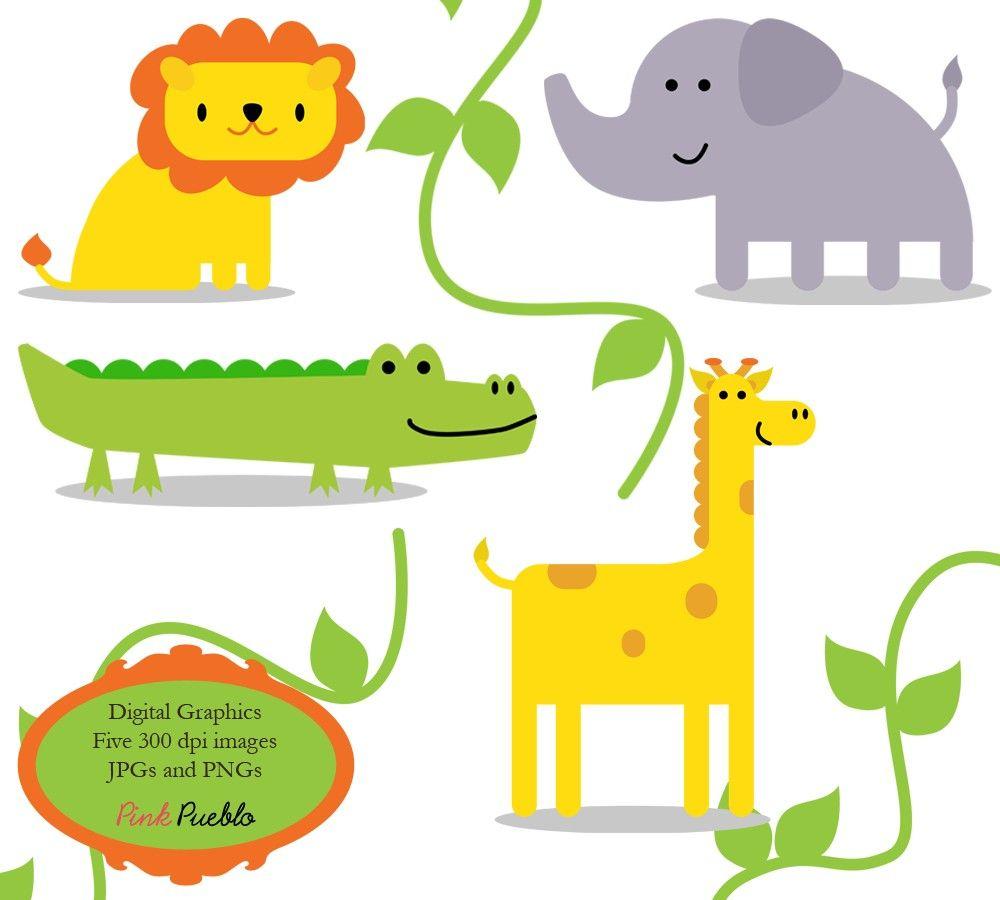 1000x900 Jungle Animals Clip Art Clipart Zoo Safari Wild Animals Clip Art