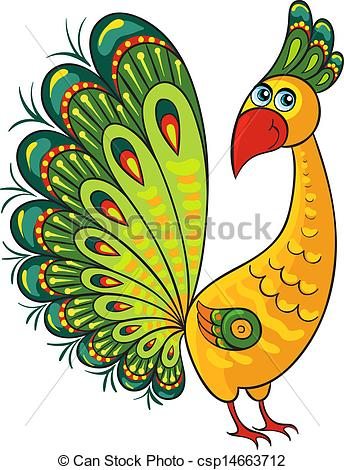344x470 Peacock. Cartoon Wild Animal. Cartoon African Wild Animal