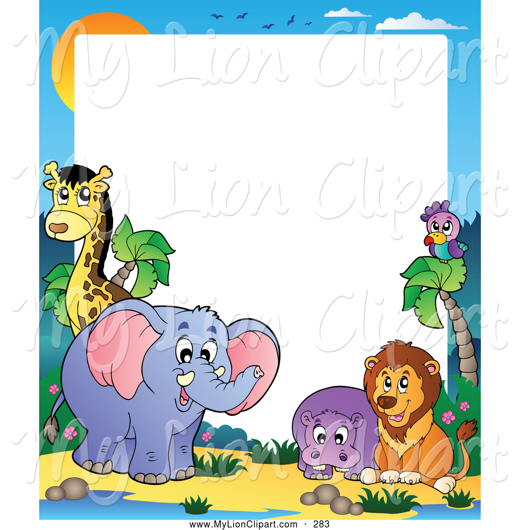 1024x1044 Free Clip Art Borders Animals Clipart Of A Border Wild By Tree