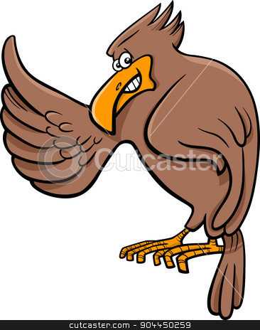 366x464 Eagle Animal Character Stock Vector